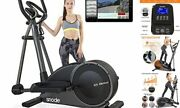 Magnetic Elliptical Machines For Home Use With Bluetooth App - Low Black
