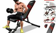Adjustable Weight Bench, Foldable Strength Training Benches Press For Full
