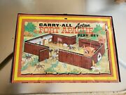 Marx Carry-all Action Fort Apache Tin Toy Play Set 4685 Custer 7th Calvary