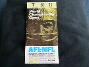 Packers Vs Kc Chiefs Super Bowl I1 Ticket Stub Extremely Nice Condition Lombardi