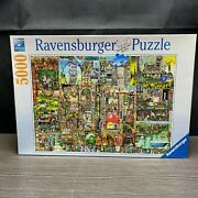Used Ravensburger Colin Thompson Bizarre Town 5000 Piece Jigsaw Puzzle 60 X 40