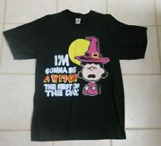 Vintage Lucy Van Pelt Iand039m Gonna Be A Witch Halloween Peanuts T-shirt Adult L