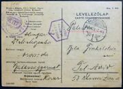 1940 Wwii/holocaust Era Red Cross Cover Hungarian Occupied Slovakia To Palestine
