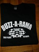 Buzz-a-rama The Place To Race Black Tshirt New Size L