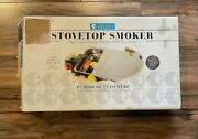 Original Camerons Professional Stovetop Smoker Stainless Steel Cooker New In Box