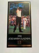 94 95 96 And 98 Masters Champions Of Golf Grand Slam Ventures Gsv Gold Foil 2