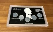 1943 Steel Cents War Time Penny Pennies Set Wartime Emergency Issue P D S