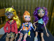 Monster High Dolls Clawdia Clawdeen Howleen Wolf Sisters Set Of 3