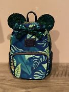 Disney Aulani Resort Loungefly Sequin Paradise Vibes With Hidden Mickey