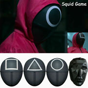 Squid Game Face Mask Round Square Evil Face Costume Halloween Party Cosplay