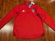 Adidas Menandrsquos Nc State Wolfpack Long Sleeve 1/4 Zip Knit Pullover Jacket Medium M