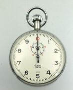 Gallet Stopwatch Works Great Minty 10 Second Dial 56mm Case D103