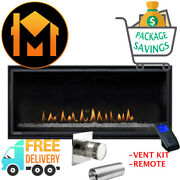 Delrey 36 Drl3613 Linear Fireplace Direct Vent Kit Remote Package Deal