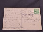 Antique Postcard With George Washington 1 Cent Stamp - Postmarked 1940