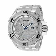 Menand039s 33779 Shaq Automatic 3 Hand Rhodium Dial Watch