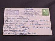 Antique Miami Postcard With George Washington 1 Cent Stamp - Postmarked 1951