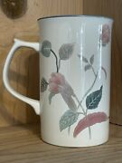 Vintage Mikasa Continental Silk Flowers Cappuccino Mug - Discontinued Collection