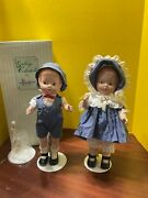 Vintage 1992 Porcelain Effanbee Doll 15 Patsy Girl And Boy Mp 101 And 102 Le 5000