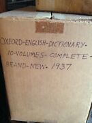 Oxford Universal English Dictionary 1937 10 Volume Set Complete