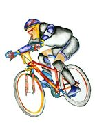 John D Wibberley Cycle Art Racer Giclee Canvas Print, In Various Sizes