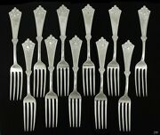 11 Knowles And Ladd Crete Sterling Silver Dinner Forks