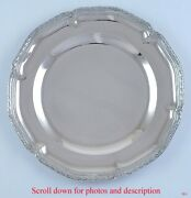 Antique C1890 German 800 Silver Serving Tray/platter/charger 12 Diameter