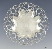 Antique 1902 Towle Sterling Silver Aire Pattern Openwork Serving Bowl 9 1/2
