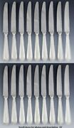 18 Finest Quality English Sterling Silver Georgian Style Bead Edge Knives 8 5/8
