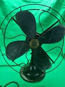 Vtg Robbins And Myers 4 Blades Oscillating Desk Fan Not Working. Pat. 3/16/26