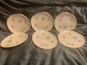 Franciscan Atomic Starburst Set Of 6 Bread And Butter Plates