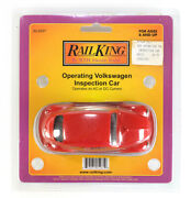 M.t.h. Railking Toy Operating Volkswagen Inspection Train Motor Car • Pa, Red Vw