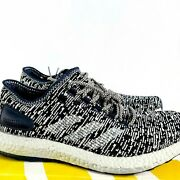 Adidas Pure Boost Men Runners Fitness Athletic Sneaker Shoe Size 11.5 Grey Black