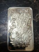 🔥 Exremely Rare Pamp Suisse 4 Seasons 1oz Silver Pendant Bar-best Condition