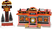 Department 56 Original Snow Village Scooter's Diner Lit Animated Buidling And Fi