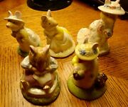 Royal Doulton Brambley Hedge Vintage Collectible Figurines Lot Of Five