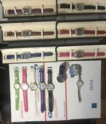 Lot 14 Wrist Watches Floating Crystal