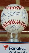 Chicago Cubs 2016 W.s.champions Team Signed Official Ball Fanatics Coa 23 Signed