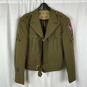 Original Named 15th Us Army Air Corp Ike Jacket
