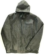 Mens Members Only Hooded Gray Bomber Jacket Size 3x Sherpa Lined Faux Leather