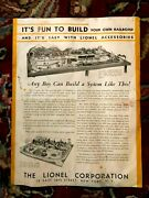 Prewar Lionel O Or Standard 1932 Its Fun To Build Your Own Railroad Booklet..m7