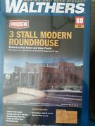 Walthers Cornerstone 933-2900 Ho 3 Stall Modern Roundhouse Kit