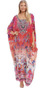 New Andpound640 Camilla Franks Free Love Long Round Neck Kaftan Lrnk One Size O/s Pinks