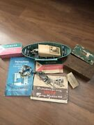 Huge Lot Of Vintage Singer Sewing Machine Attachments And Button Holder