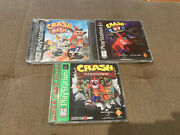 Crash Bandicoot Ps1 Playstation Lot Of 2 Games 1 And 2 Tested And Working