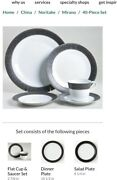 Noritake China Andnbsp12 Place Settings -72 Pieces W/soup Bowlsandnbsp