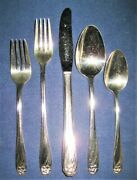 Vtg 1847 Rogers Bros Is Daffodil 57 Piece Service For 8 Less 2 Salad Forks Euc