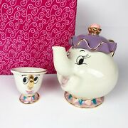 Beauty And The Beast Mrs Potts And Chip Teapot Cup Figurines Kato Kogei Disney