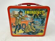 Vintage 1973 Emergency Tv Show Metal Lunch Box And Thermosandnbsp- Great Shape
