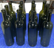 Clear Glass Bordeaux Wine Bottles 12 Ct. Used/empty/clean Wedding/crafting