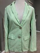 Princess Polly Cadence Jacket Blazer Green Us Size 2 Nwt Shell Buttons
